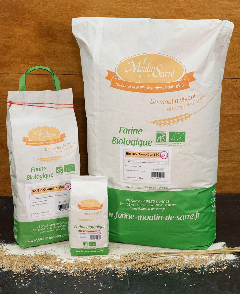 Farine de ble biologique complete 150