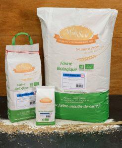 Farine de blé et graines biologique