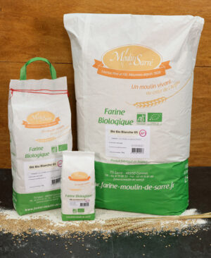 Farine de blé biologique banche 65 du moulin de sarre