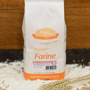 farine blé chataigne
