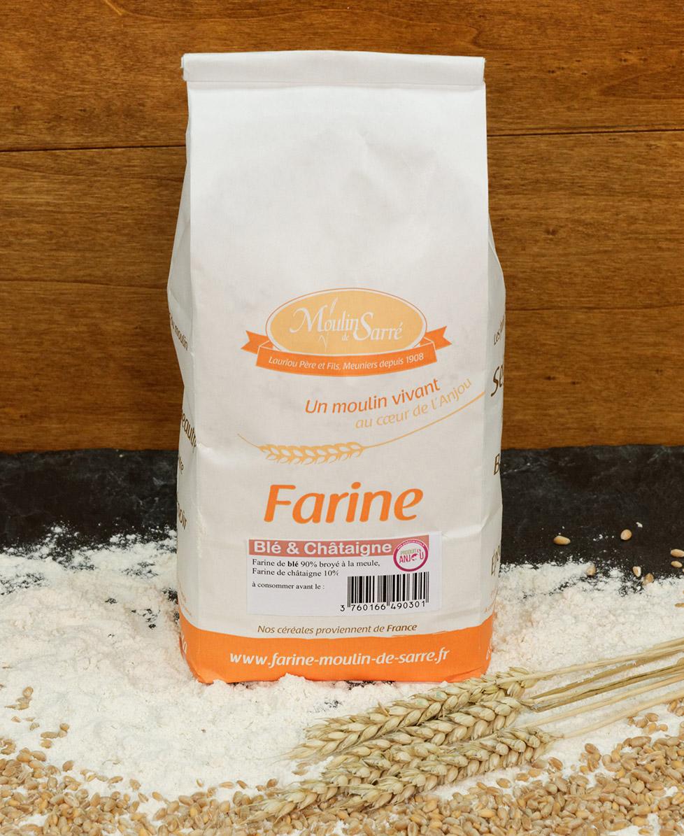 Farine de Blé et Châtaigne